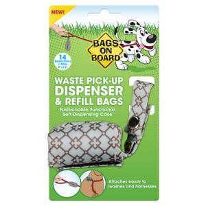 Bags on Board Dog Poop Bags Dispenser with 14 Refill Bags