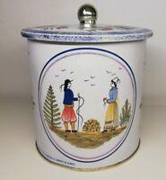 Rare Boîte en métal Henriot Quimper France, Vintage, décoration, ronde