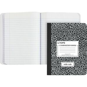 Wide Ruled Composition Books Black 100 Sheets