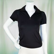 """PRADA """"Made in Italy""""   Black with Net 1/4 Zipper Women Athletic Top"""