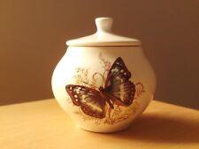 Vintage Devon Pottery Butterflies Lidded Jar.