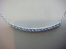 1 CARAT T.W. LARGE DIAMONDS CURVED DIAMOND BAR NECKLACE,18 INCHES LONG HIGH END