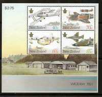1987 New Zealand~Air Force~Unmounted Mint~M/S~Stamp Set~ UK Seller~