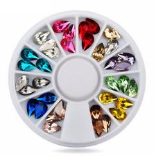 Fashion DIY Nail Art Acrylic Rhinestone Crystal Gems Glitter 3D Tips Decoration