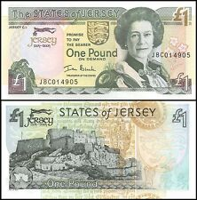 Jersey 1 Pound, 2004, P-31, UNC, Queen Elizabeth II (QEII)