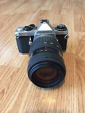 Vintage PENTAX CAMERA ME SUPER With SMC F ZOOM 1:4- 5.6 70-210mm LENS