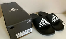 NEW! ADIDAS BLACK ADILETTE CLOUDFOAM PLUS STRIPES COMFORT SLIDES SLIPPERS 11 46
