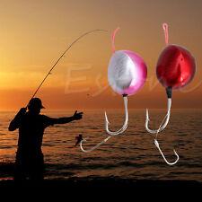 Metal Round Lead Head Lure Jigs Fishing Hooks For Soft Bait Fishing Tools 120g