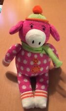 """Canon Falls Polka Dotted Knit Pink Pig 12"""""""