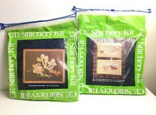 2 New 1980 Crewel Embroidery Kit Creative Expression 1 Open-Barn 1 Sealed Bunny