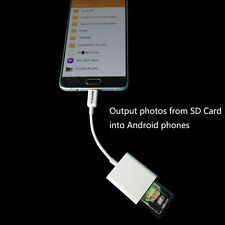 Micro to SD Card Camera Reader Adapter for Samsung HTC LG Android Series &Table#