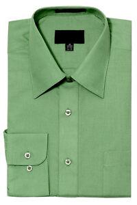 NEW Men's Regular Fit Long Sleeve Solid Color Dress Shirts - 19 Colors