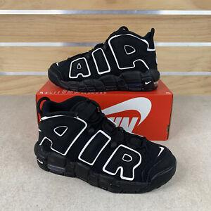 Nike Air More Uptempo Grade School Black/White 415082 002 5Y / Womens 6.5