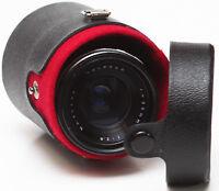 """Vintage Kamero 3"""" Hard Lens Case For Wide Angle Prime Vivitar Sigma Focal Lenses"""