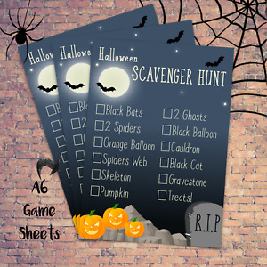 Scavenger Hunt Kids Halloween Game - 10+ Pack - Costume Decoration Props Witch