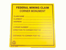 "Lot of 4 Signs""Federal Mining Claim Corner Monument"" Prospecting - Property"