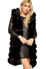 Cappotti e giacche da donna stile gilet e giubbotti imbottiti nero con bottone