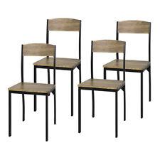 SoBuy 4-er Set Esszimmerstuhl mit Rücken-Lehne Küchenstuhl Balkonstuhl FST73-Nx4