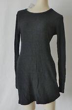 Brandy Melville Body-Con Sweater Dress Ribbed Knit Gray Size S/M