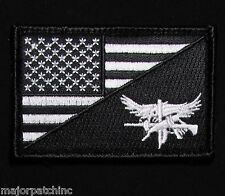 Swat Eagle Usa American Flag Us Army Morale Tactical Black Ops Hook Patch