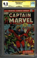 * Captain MARVEL #31 CGC 9.2 Signed Jim Starlin! THANOS App!  (1330688002) *