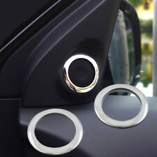 2pcs Chrome a Pillar Stereo Speaker Cover For Mitsubishi Outlander Sport Asx Rvr
