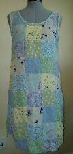 CAROL ANDERSON California Blue Green Patchwork Floral Women's Dress Size L