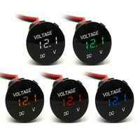 DC12V-24V New Car Motorcycle LED Panel Digital Voltage Meter Display Voltmeter