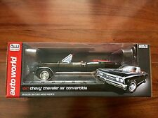 AUTO WORLD 1/18 D/C BLACK 1967 CHEVY CHEVELLE SS CONVERTIBLE LTD EDIT # 1048 F/S