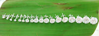 """BUY 4 GET 1 FREE 925 sterling silver """"2mm to12mm Round CZ"""" studs Earrings UNISEX"""