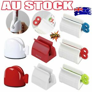 Toothpaste Squeezer Bathroom Tube Easy Stand Dispenser Rolling Holder Seat BZ