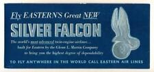 VINTAGE ADVERTISING INK BLOTTER EASTERN AIRLINES SILVER FALCON AIRPLANE AIRLINER
