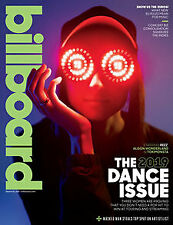 BILLBOARD MAGAZINE  - THE 2019 DANCE ISSUE -  NO MAILING LABELS