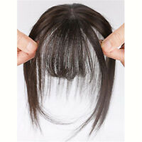 Neat Air Bangs/Fringe Clip in Topper 100% Remy Human Hairpiece For Thin Hair