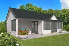 70 mm Gartenhaus ISO 930x400 cm Ferienhaus Blockhaus Gerätehaus Holzhaus Anbau