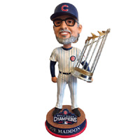 Chicago CUBS Joe Maddon 2016 World Series Champions Bobblehead BRAND NEW!