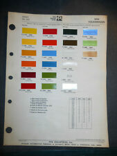 1976 VOLKSWAGEN  DITZLER PPG COLOR CHIPS PAINT SAMPLES