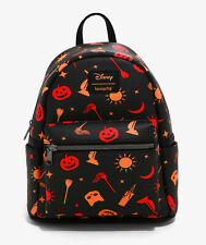 Loungefly Disney HOCUS POCUS DANI ICON MINI BACKPACK NWT Bag Pumpkin Cat Broom