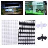 2tlg Aquarium Moosgitter Fisch Boden Raster Teiler Grid Filter