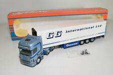 A5 55 1:50 TEKNO SCANIA 124L GEOFF GILBERT TRUCK WITH TRAILER MIB