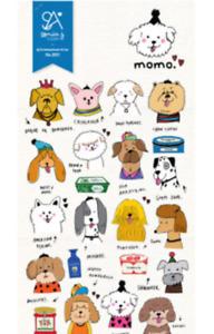 Momo Dogs Paper Sticker Puppy animal Scrapbook diary Cardmaking art