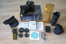 MINT! Nikon kit camera body D750 + Nikkor 24-120mm & 70-300mm VR lens - UK Model
