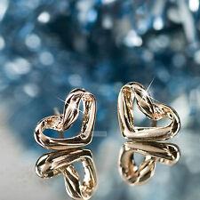 18k rose gold gf stud heart earrings Sydney stock