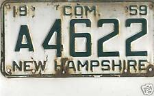 1959 NEW HAMPSHIRE~A 4622~COM~LICENSE PLATE<>TAG