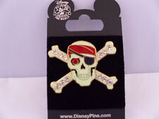 Disney Jeweled Pirate Skull & Crossbones 3D POTC Pirates of the Caribbean Pin