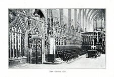 81 ALBI CATHEDRALE CHOEUR IMAGE 1903 PRINT