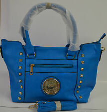 Fashion Shoulder Bag Purse HandBag Bright Blue NWT