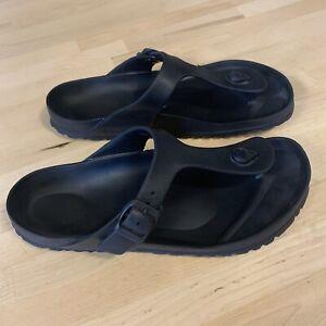 Birkenstock Essentials Women's Gizeh EVA Sandals -Black Size 10 Mens 8 (EU 41)