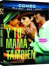 Y Tu Mama Tambien Blu-ray/Dvd W/ Slipcover 2001/2011 Alfonso Cuaron Spanish
