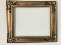 ART & CRAFTS  HAND  CARVED WOOD GILDED FRAME FOR PAINTING  14 x 12 INCH